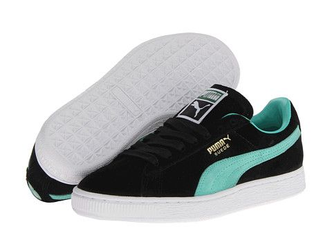PUMA Suede Classic BlackElectric Green Free