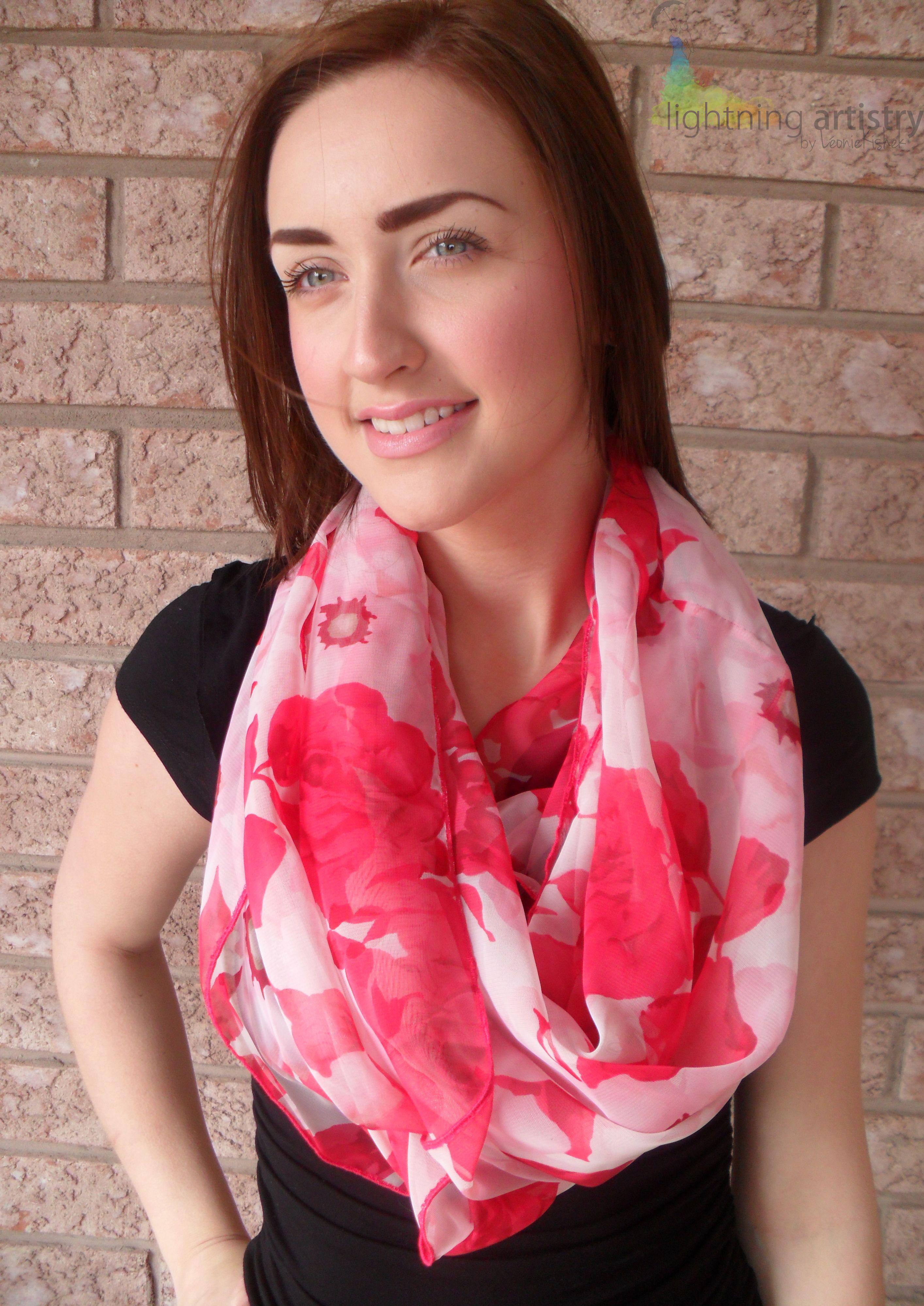 Spring 2013    https://www.etsy.com/listing/127963894/infinity-scarf-pink-florals?ref=v1_other_1