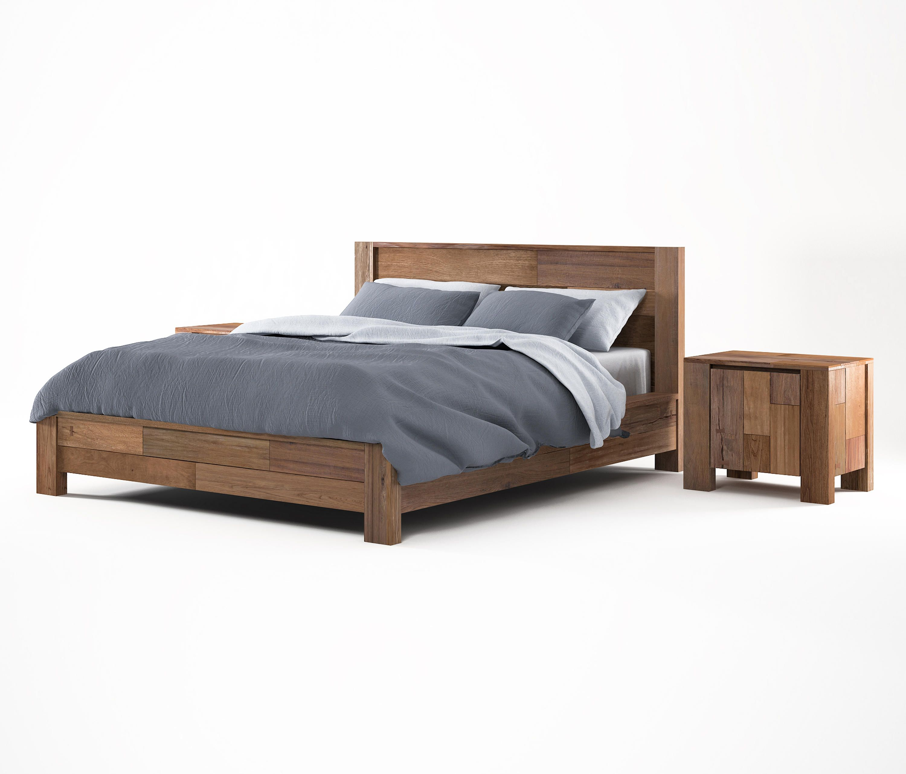 Teak Wood Shandur King Size Bed King Size Bedroom Furniture