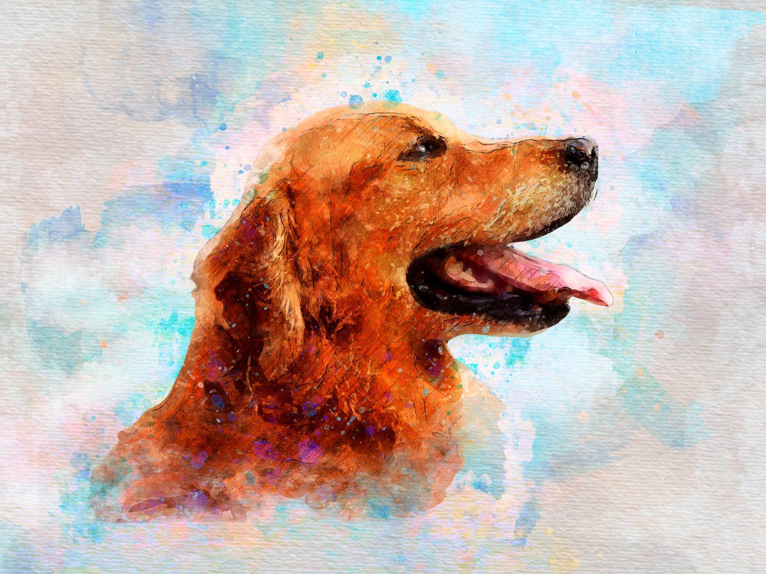 Custom Pet Portrait Painting From Photo Custom Watercolor