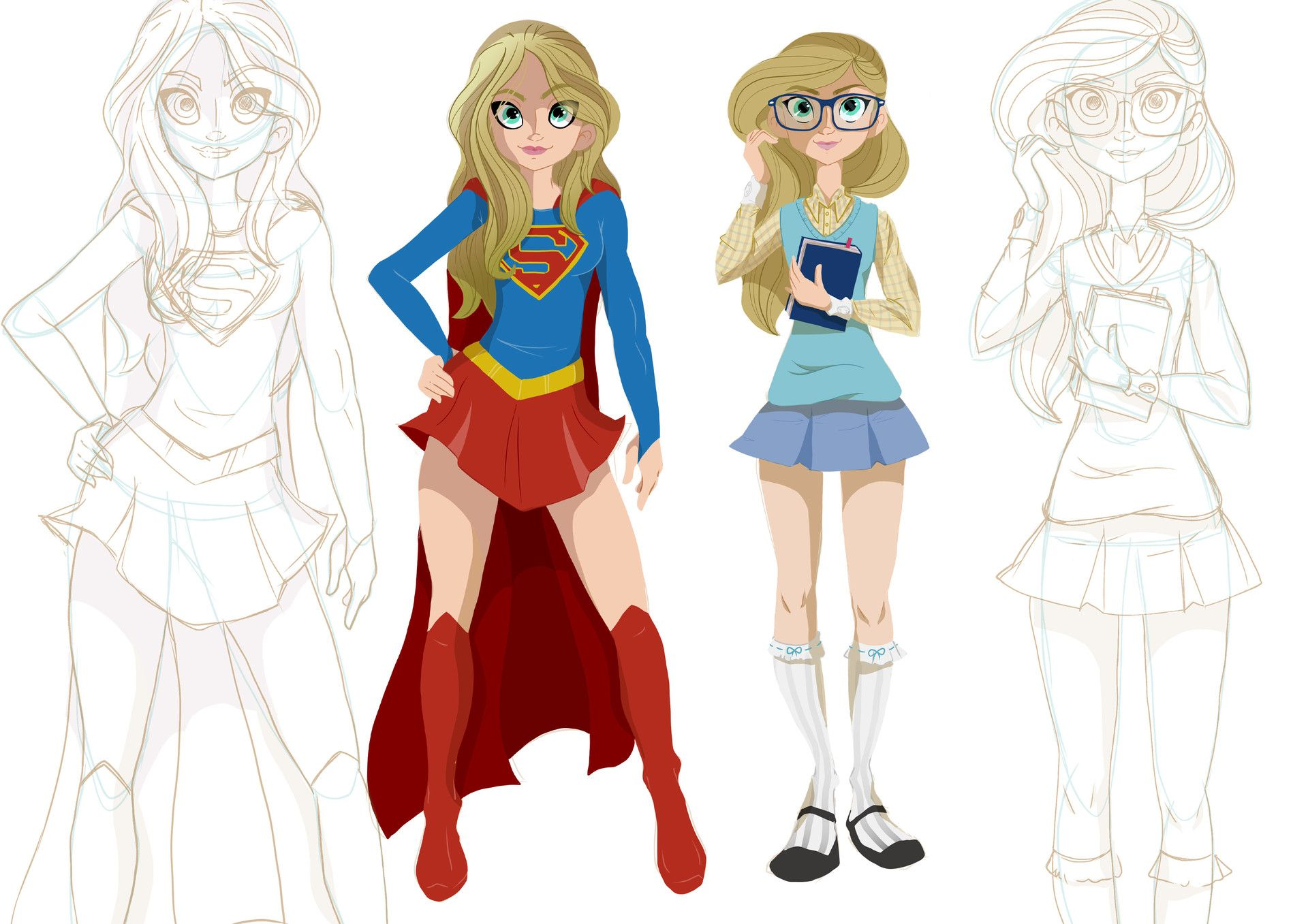 ArtStation - Kara - Supergirl, Fabiano Freitas