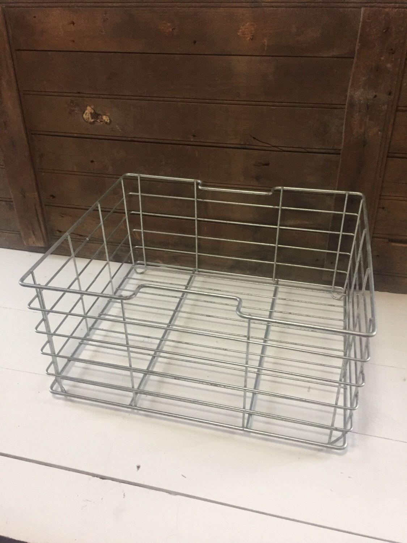 Vintage Wire Basket, Metal Basket, Storage Basket, Industrial Storage,  Industrial Decor,