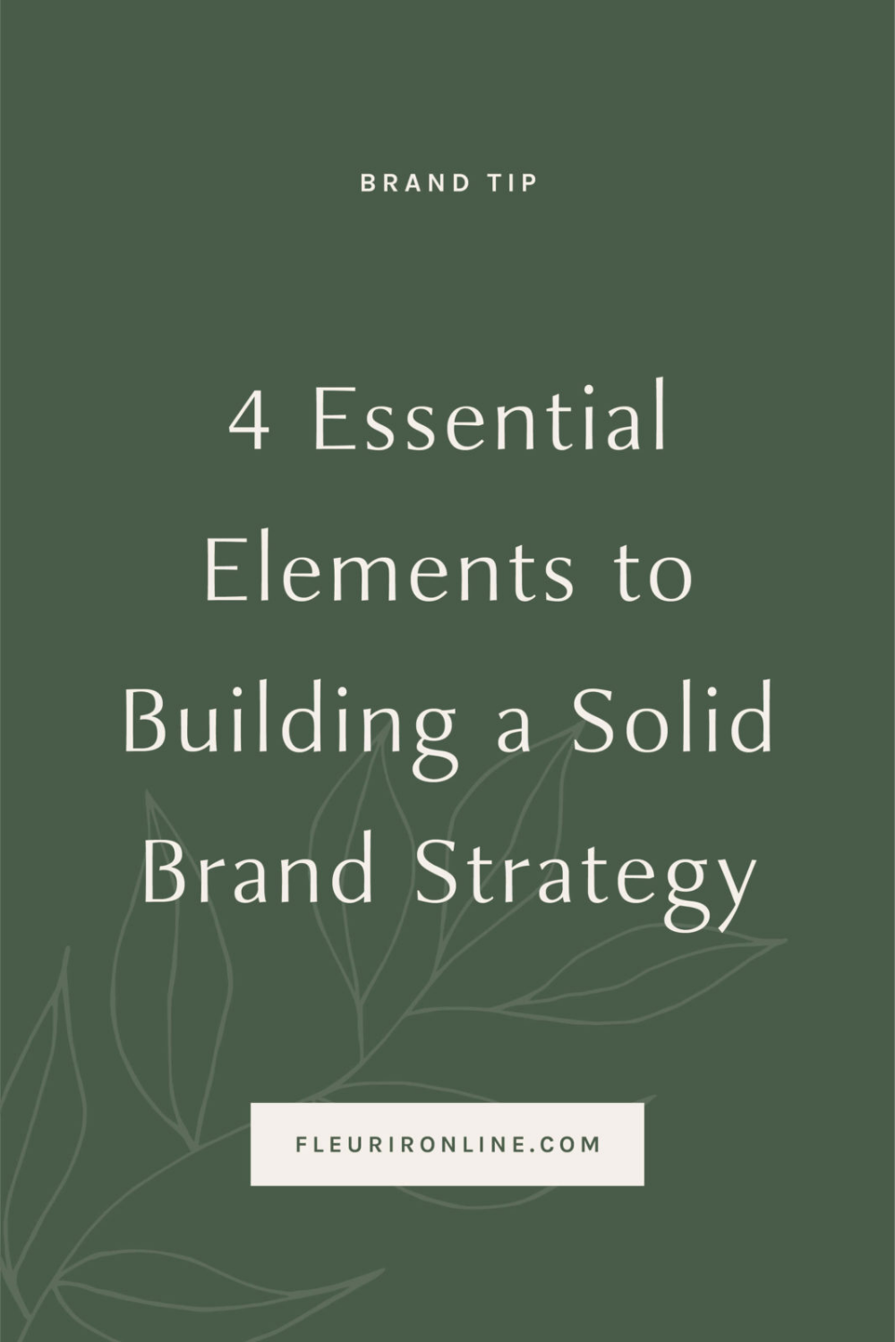 4 Essential Elements To Building A Solid Brand Strategy Essential Elements Small Business Resources Creating A Vision Board
