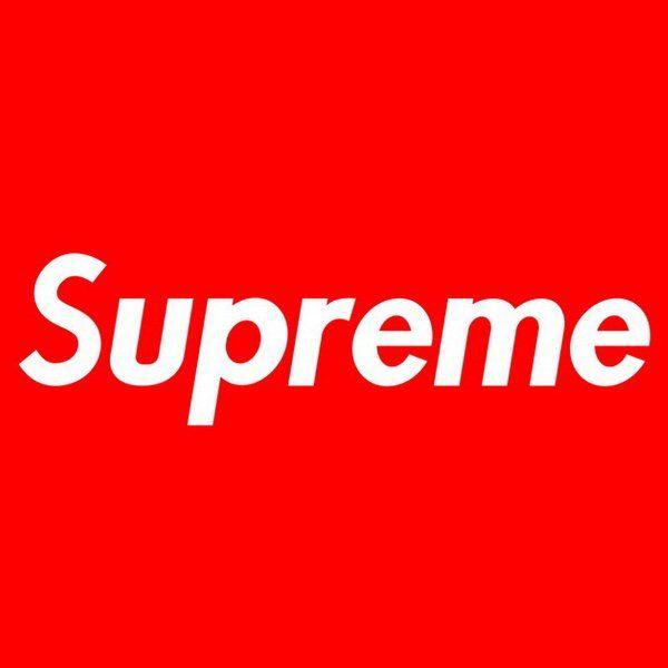 Streetwear Supreme Logo Supreme Supreme Sticker