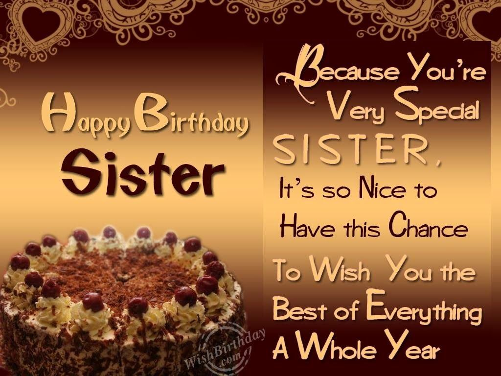 Birthday Wishes For Friends And Your Loved Ones Birthday Wishes To Sister Happy Birthday Wishes Sister Birthday Greetings For Sister Happy Birthday Elder Sister Best of happy birthday to my sister