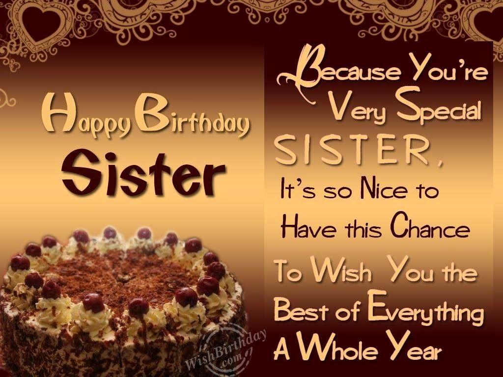 Birthday Wishes Elder Sister Happy birthday wishes