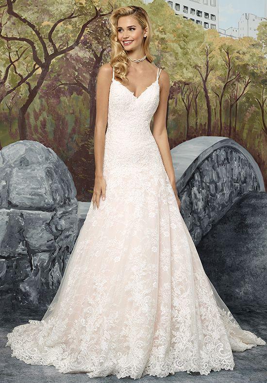 Allover Chantilly Lace A-line wedding dress | Justin Alexander 8911 ...