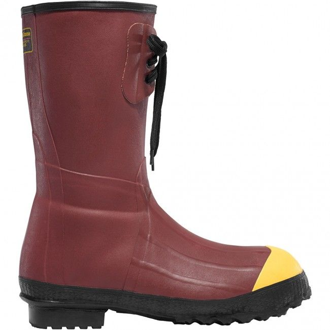223120 LaCrosse Men's Pac 12IN Safety Boots - Red www.bootbay.com