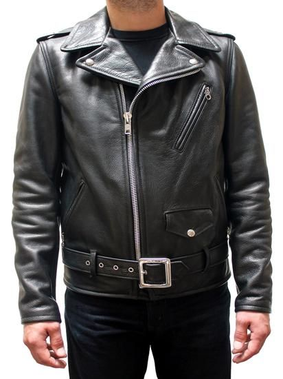 Schott 50's Perfecto Motorcycle Leather Jacket Waxy Black Cowhide 519    Boot Star