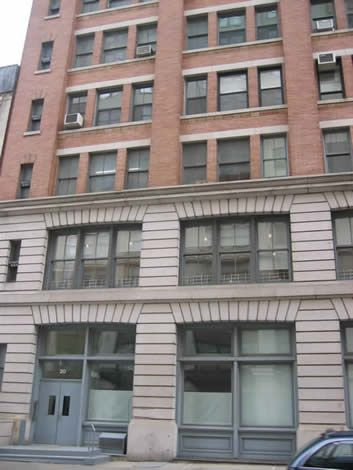 John F Kennedy Jr Loft At 20 North Moore New York City Where He Lived With His Wife Carolyne Bessette Until Their S