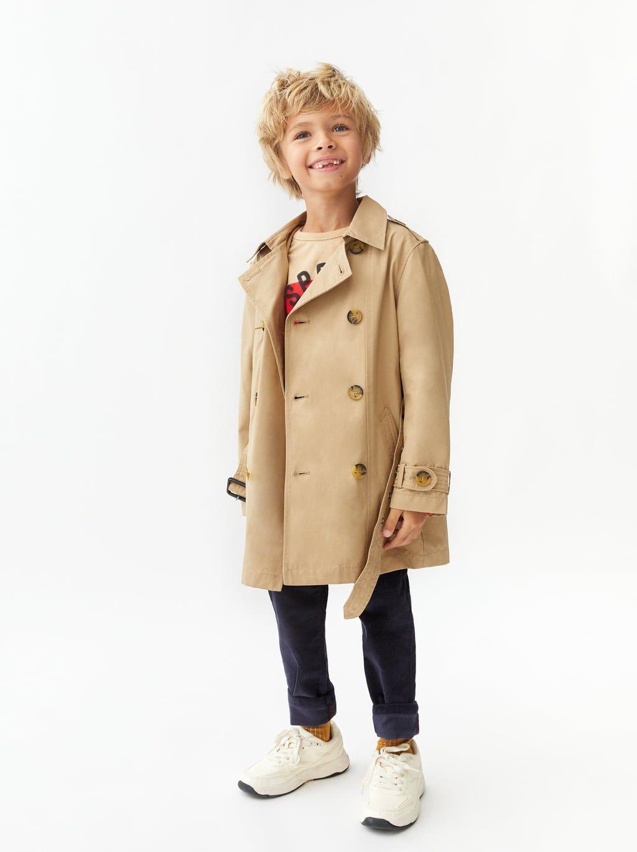 b4127b86 Image 1 of BASIC DUFFEL COAT from Zara | Kids | Boys trench coat ...