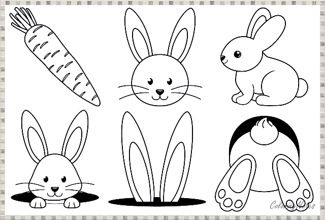 Easter Bunny Coloring Page For Kids Free Printable Easter Coloring Pages Printable Bunny Coloring Pages Easter Coloring Pages