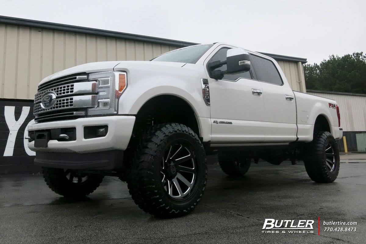 medium resolution of ford f350 with 22in black rhino thrust wheels