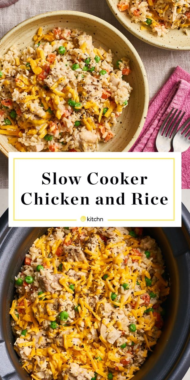The Best Creamy, Cheesy Slow Cooker Chicken and Rice images