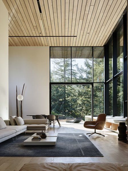 Nature Drove The Design Of This Sculptural, Cor Ten Steel House In Northern  California
