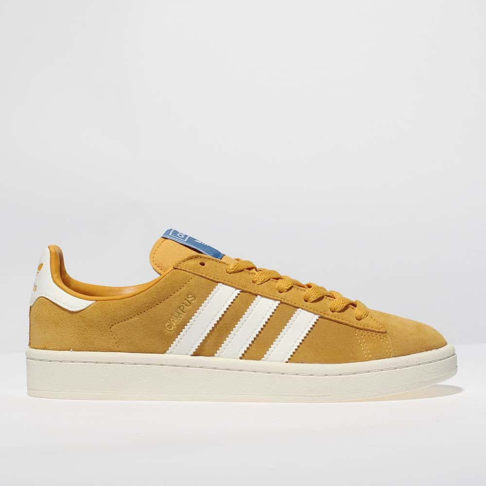 womens yellow adidas campus suede