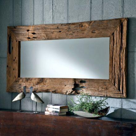 sch ner gro er spiegel und der holzrahmen aus altholz ist einfach ein traum wohnen lifestyle. Black Bedroom Furniture Sets. Home Design Ideas