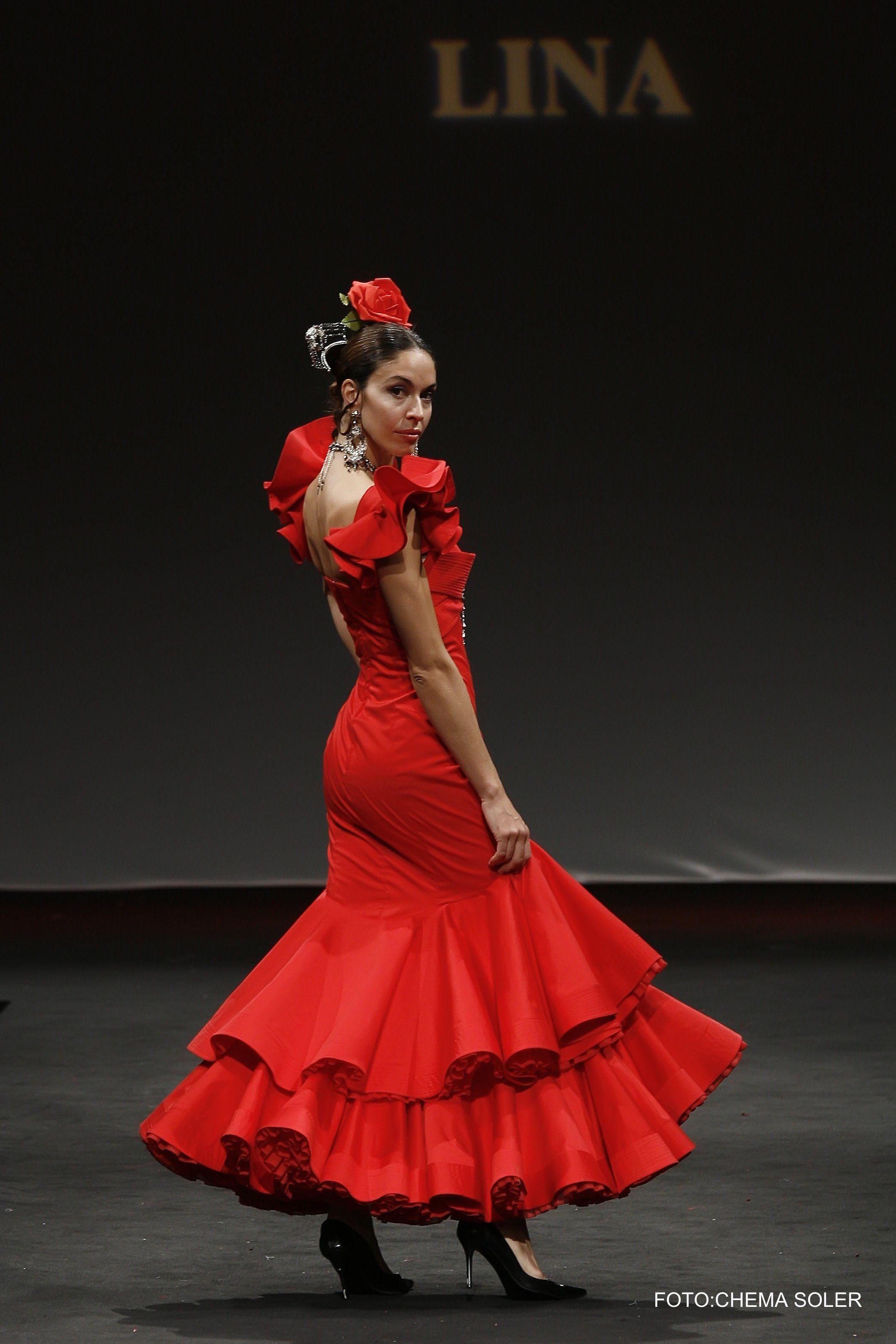 Vestido flamenca rojo y negro