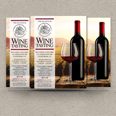 Custom Wine Flyers Wine Tasting Flyer Templates Wine Week Flyers