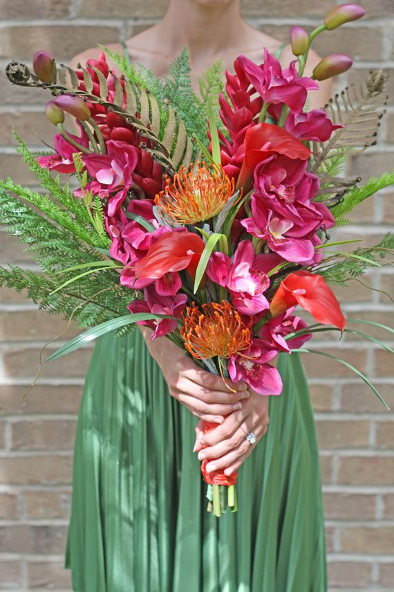 Tropical Flowers Wedding Bouquet by SouthernGirlWeddings on Etsy ...