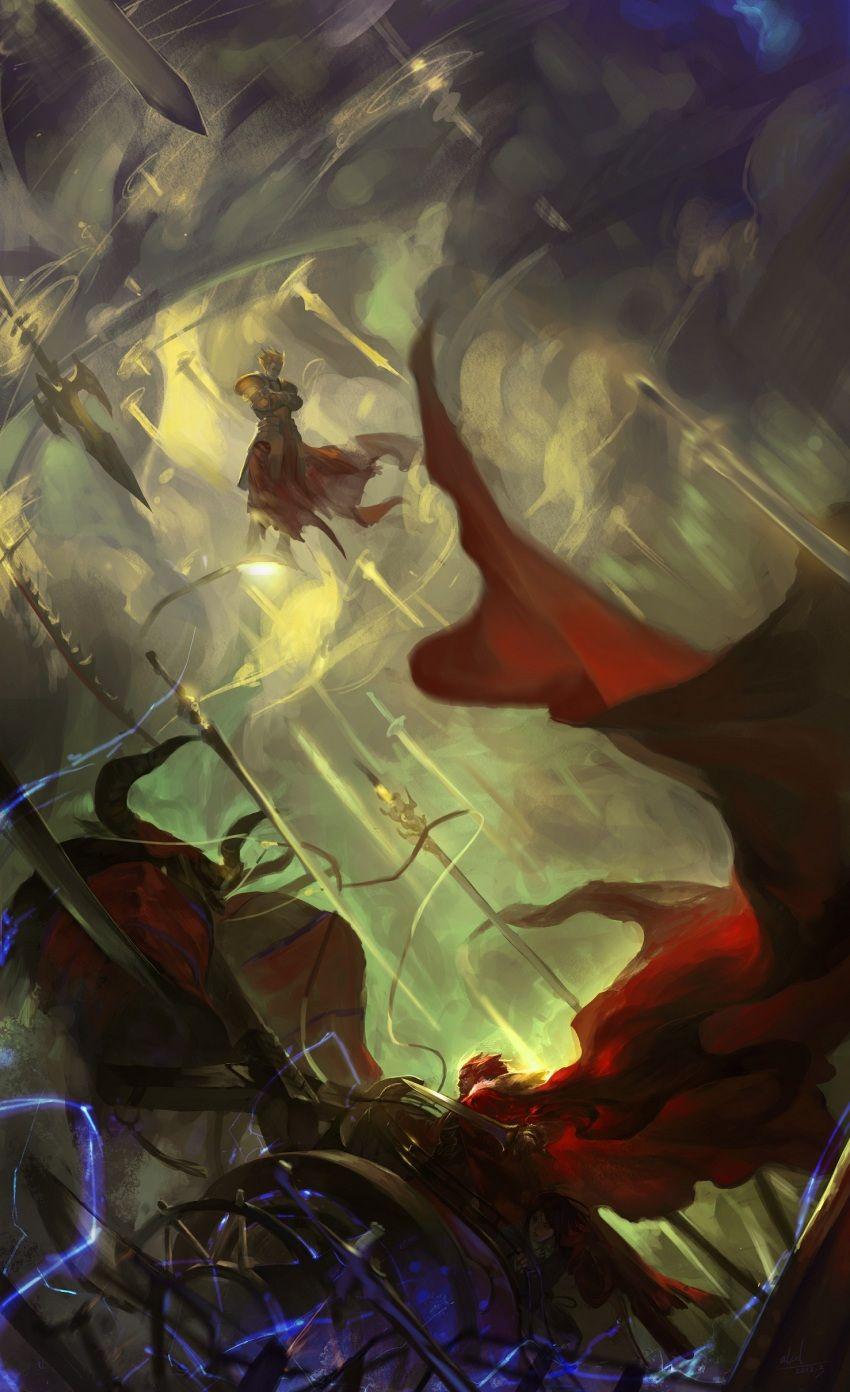 Archer Gilgamesh vs Rider Iskander Alexander the great