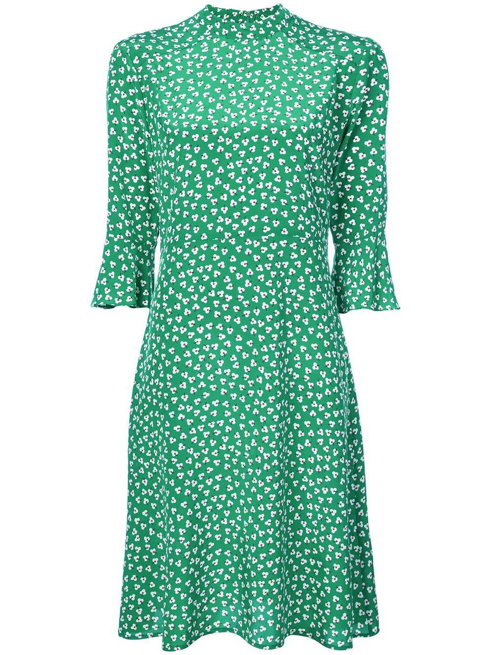 af971b882b5d7 HARLEY VIERA-NEWTON HARLEY VIERA NEWTON PRINTED DAY DRESS - GREEN.  #harleyviera-newton #cloth