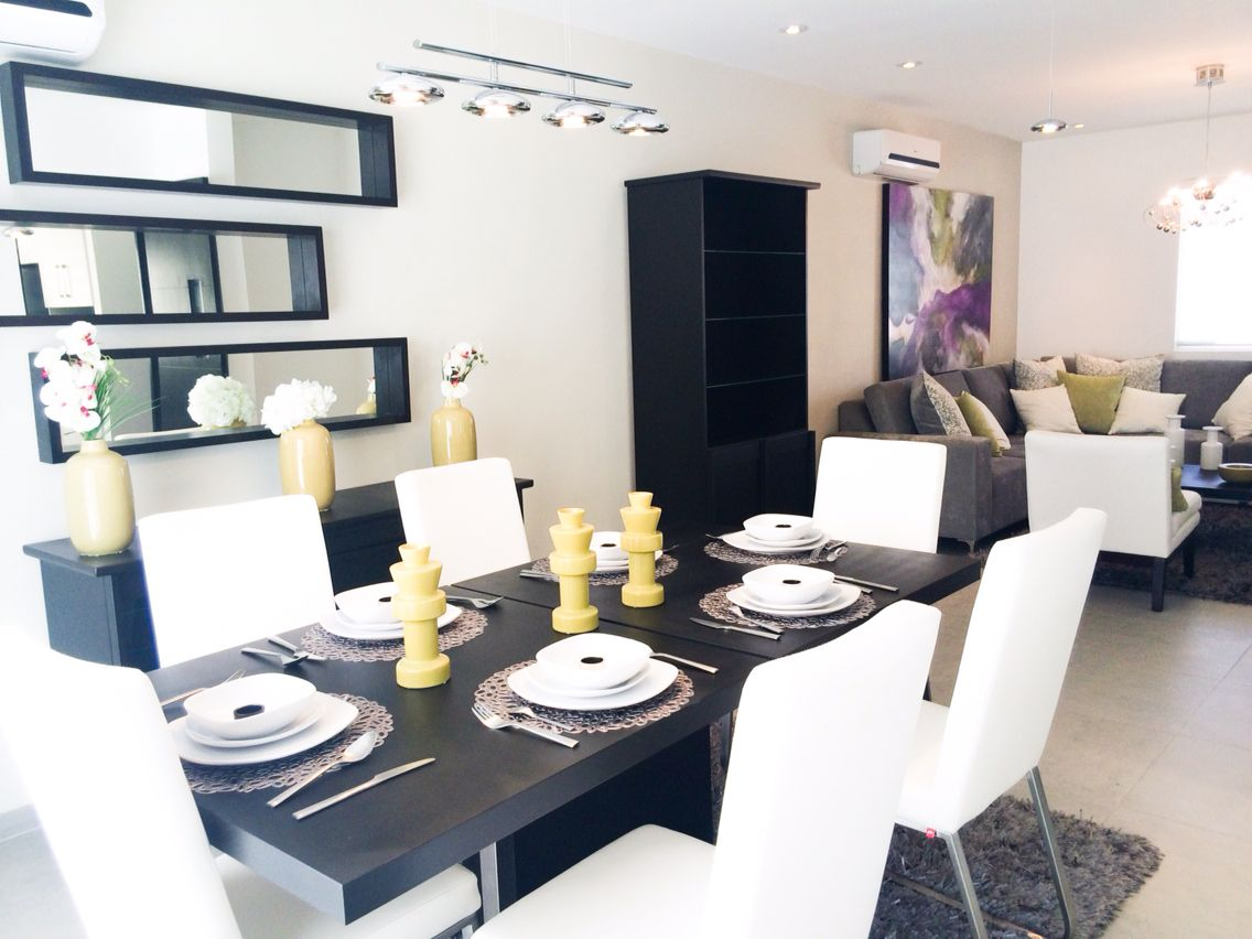 Sala comedor moderno contempor neo colores chocolate for Salon comedor en blanco y gris