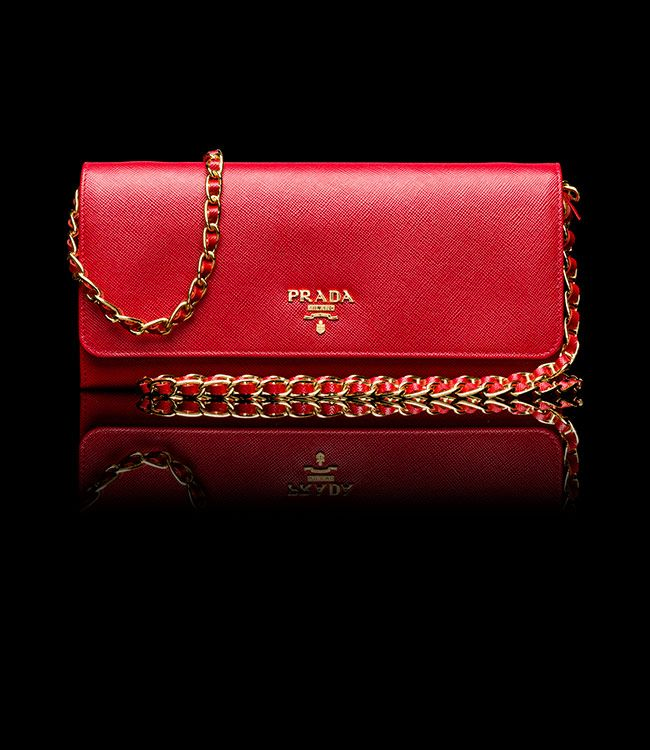 d34b7a07c2ea Prada - Saffiano Metallic Gold Flap Wallet in Red | My Wishlist ...