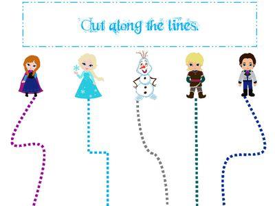 Frozen Preschool Worksheets Frozen Themed Scissor Cutting Practice