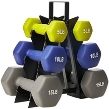 Body Solid Small Vinyl Dumbbell Rack Gdr10 Dumbbell Rack Weight Rack No Equipment Workout