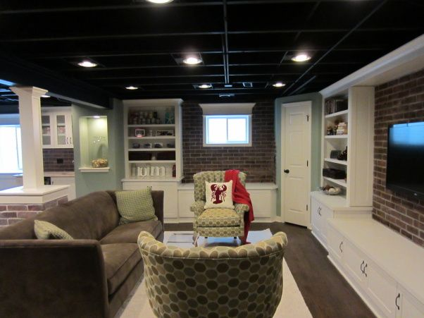 exposed ceiling lighting basement industrial black kitchen industrial basement finishing ideas basement this is our recently finished digs we were intent