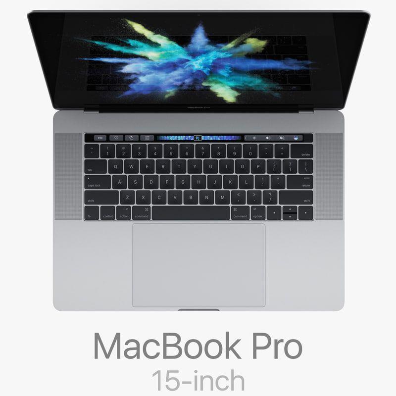 Macbook Pro 15 Inch Touch 3d Model Macbook Pro Macbook Pro 15 Inch Macbook Pro 15