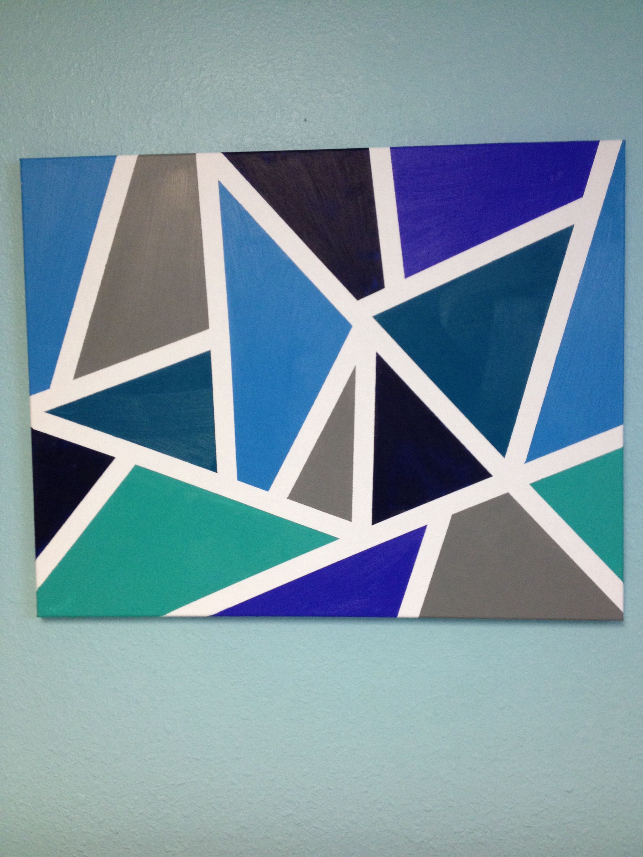Easy DIY abstract painting for a bedroom using acrylics ...