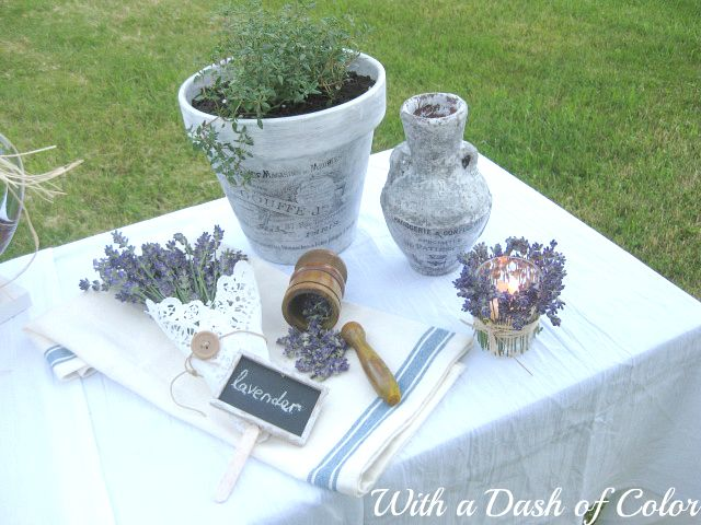 Pretty Poppy at With a Dash of Color dazzled us with her lavender crafts. http://withadashofcolor.blogspot.com/2012/07/sweet-lavender.html