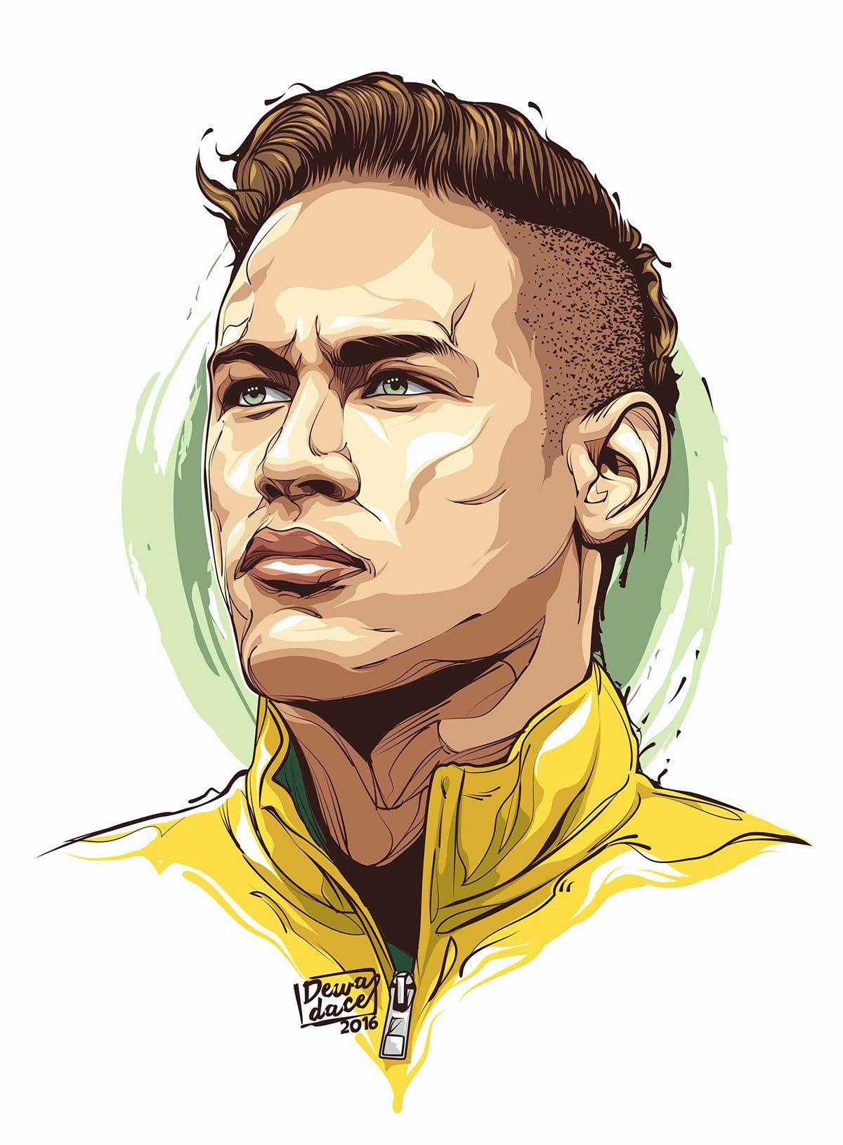 Newmar Jr Neymar Jr Wallpapers Neymar Jr Football Player Drawing