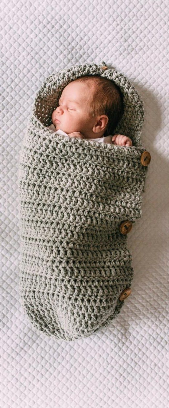 20+ Cute Crochet Baby Cocoon Patterns With Your Baby Too Sweet - Page 2 of 26 #crochetbabycocoon