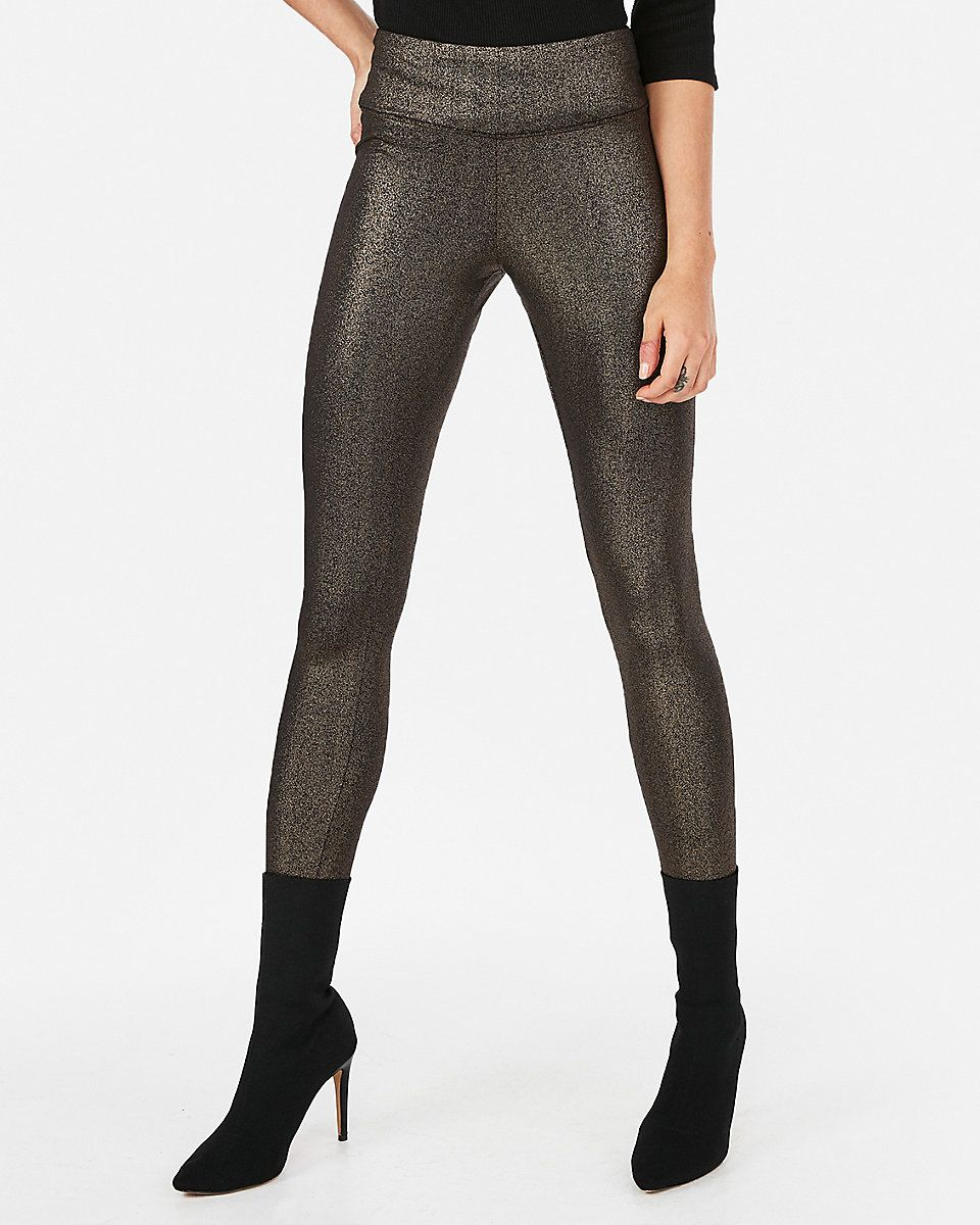 7ce857a492c1a High Waisted Metallic Leggings | Express #TimetoShine #ExpressPartner