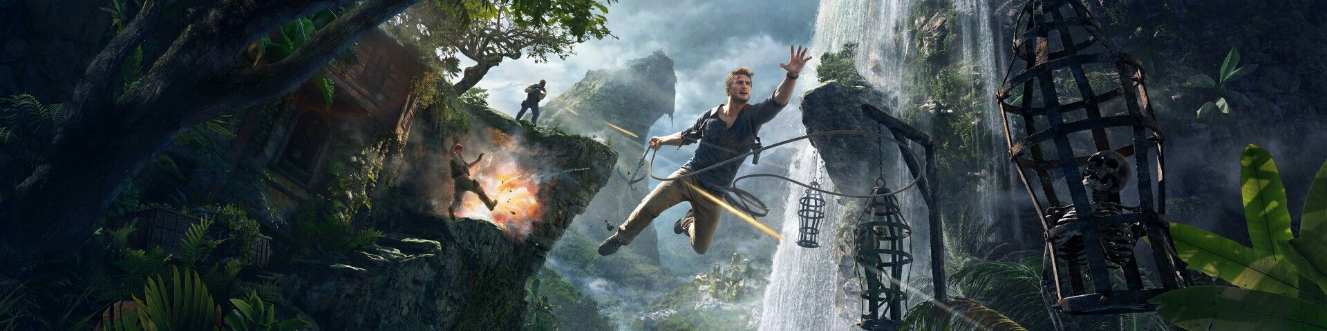 Uncharted 4 A Thief S End Nathan Drake Epic Jump 4k Hd