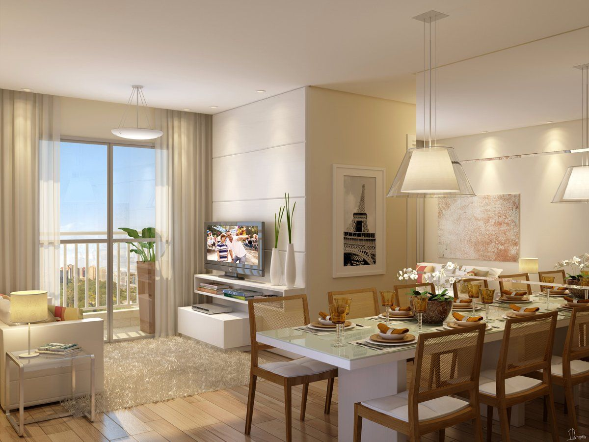 Decoraç u00e3o de Apartamento Pequeno + 50 idéias Decoraç u00e3o Sala Pequena Living Salas Sala de
