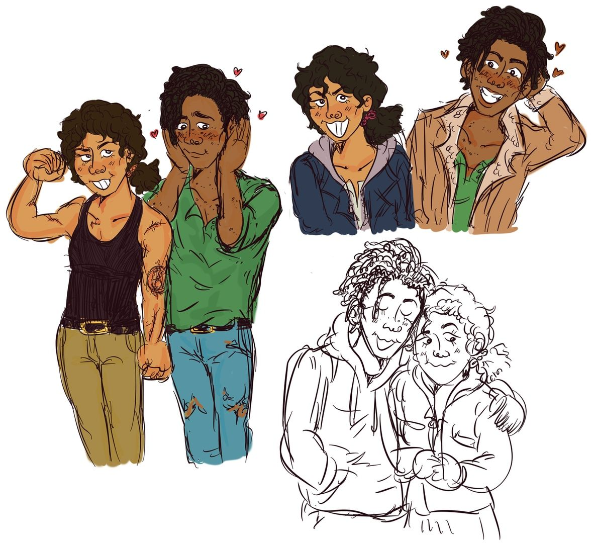 Louistine Clementine And Louis Vk The Walking Dead Telltale Walking Dead Game The Walking Dead
