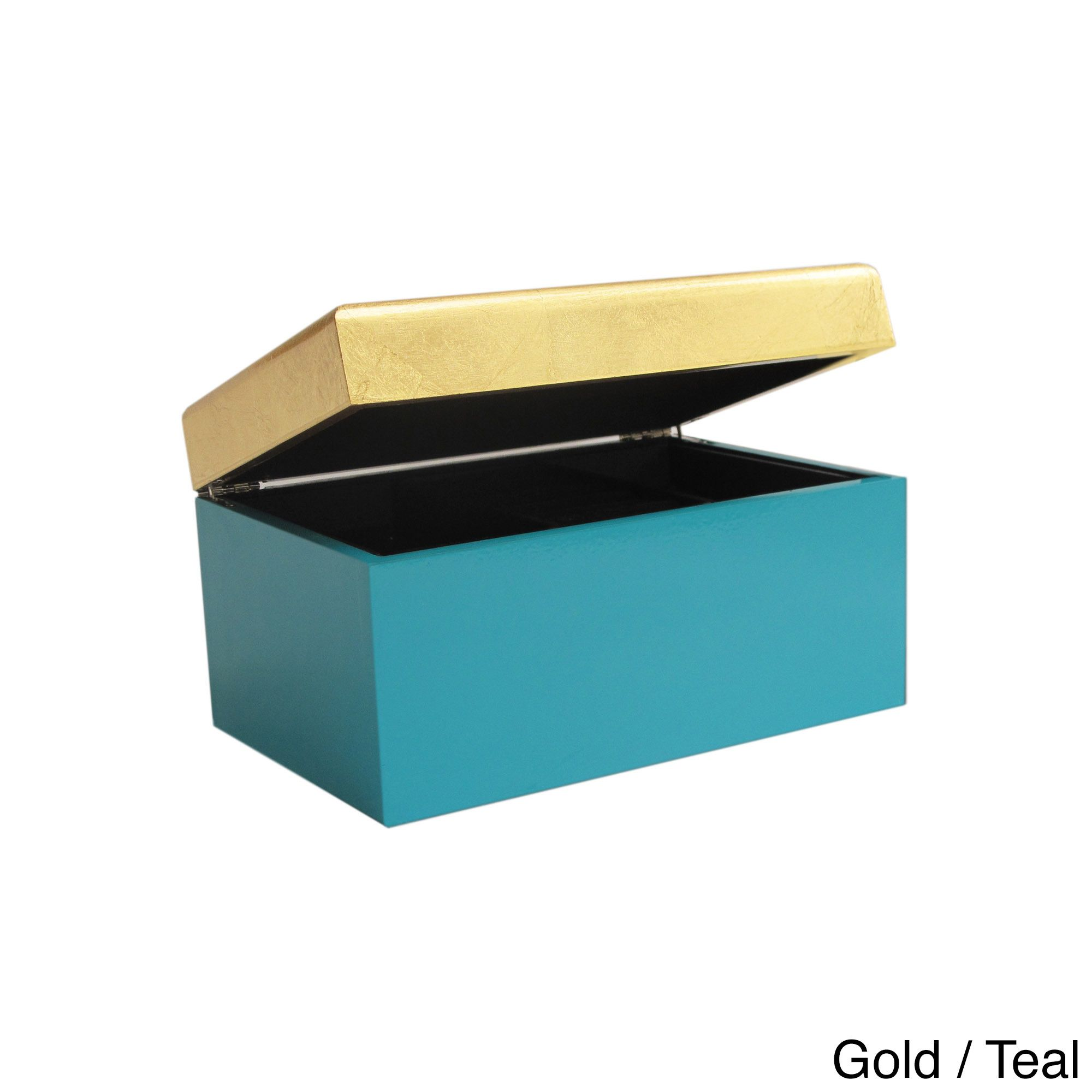 Allure by Jay Twotone Lidded Jewelry Box 2 Color Jewelry Box