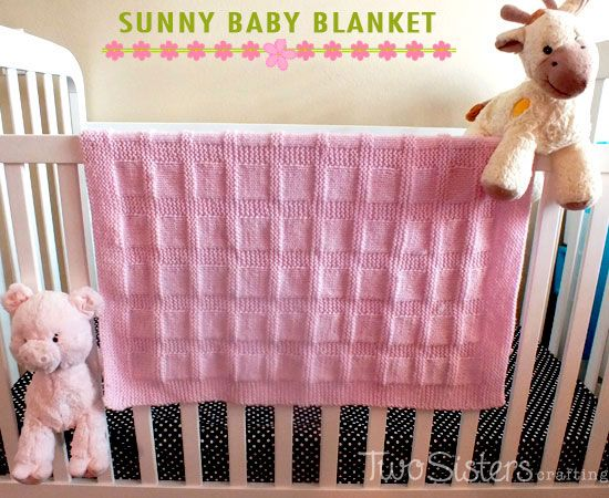 Knit Baby Blanket In Sunny Baby Blanket Pattern Knitted Baby