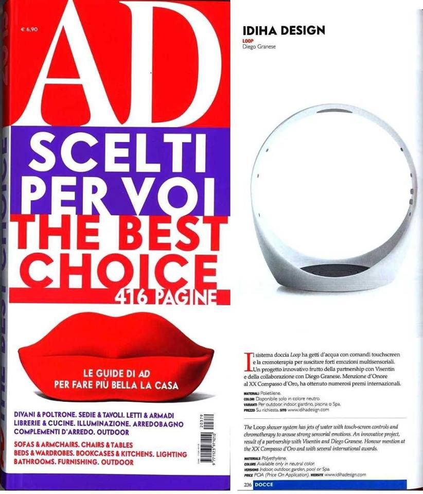 Loop Shower By Diego Granese In Ad The Best Choice Doccia Collaboratori
