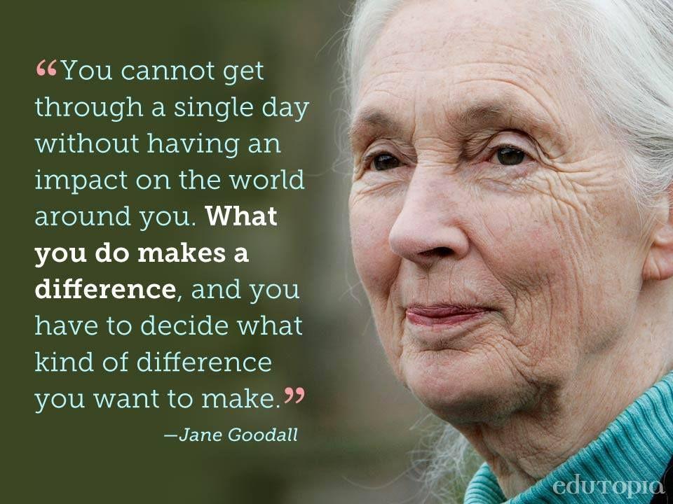 Truth / words for inspiration / motivation / Jane Goodall