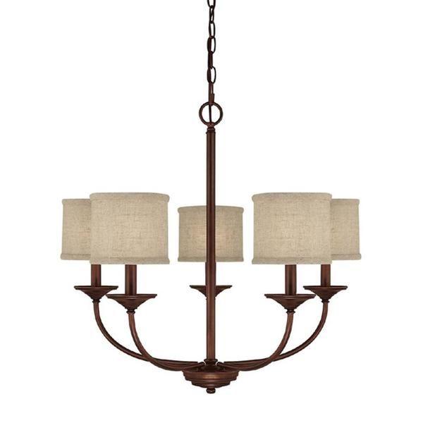 capital lighting loft collection 5 light burnished bronze chandelier