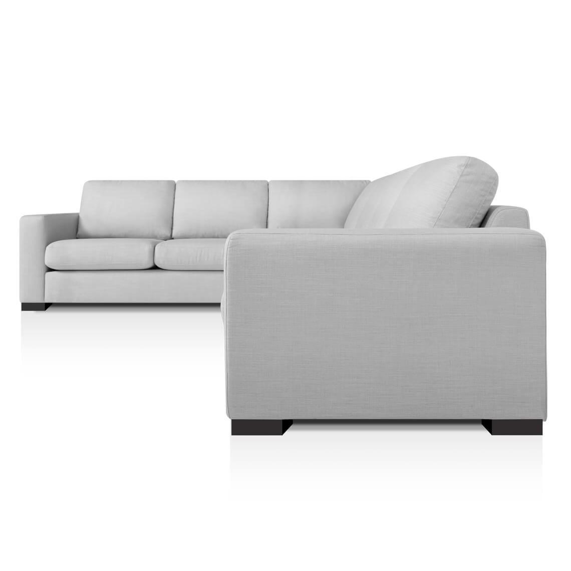 Signature Contemporary 6 Seat Fabric Corner Sofa With Left 2 Seat Modular Standard Steel Grey Corner Sofa Unique Sofas Sofa