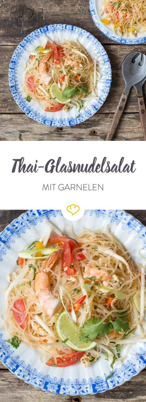 Photo of Asian glass noodle salad with shrimps