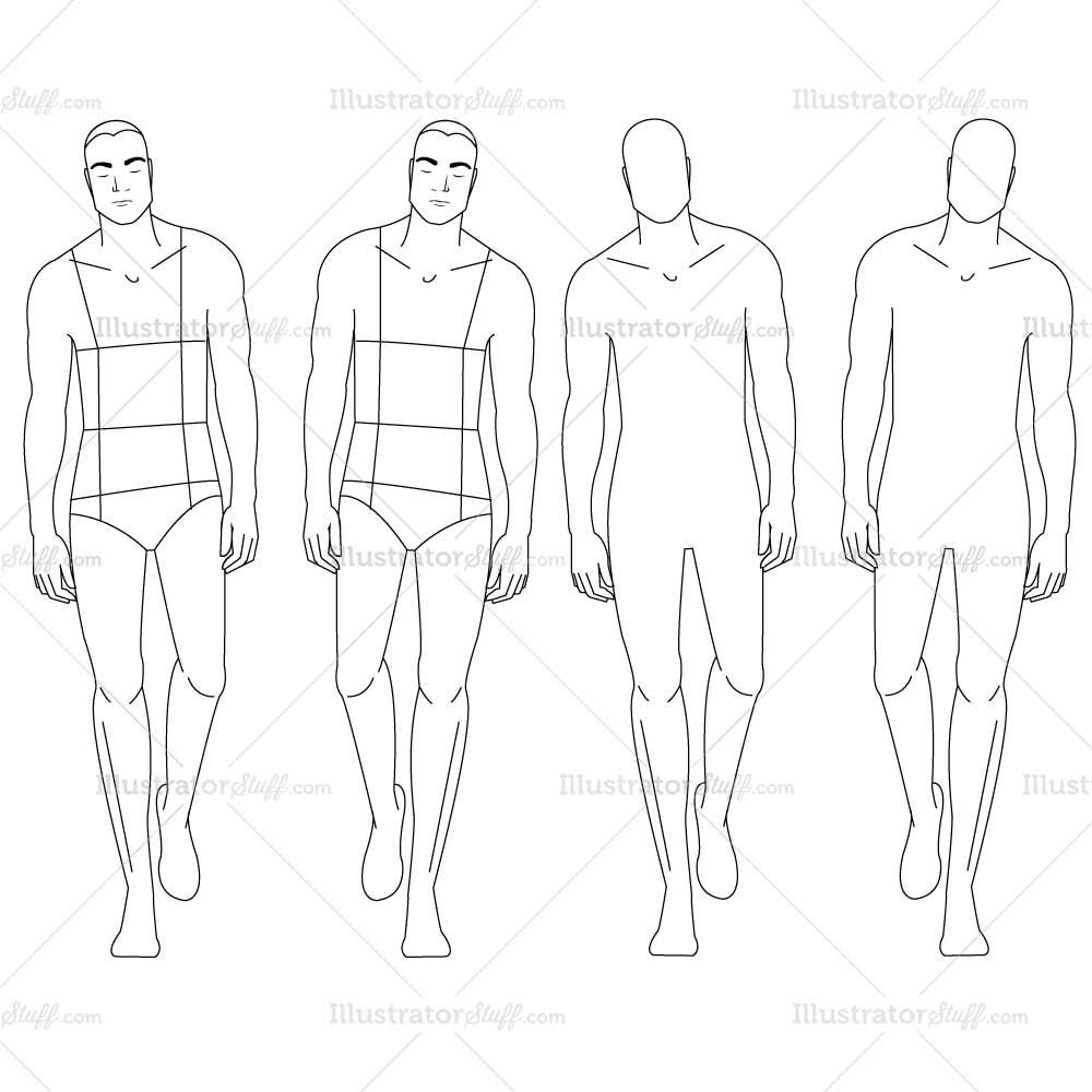Male Fashion Croquis Template | Template, Croquis and Fashion sketches