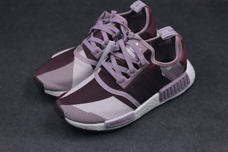 88a469fee9ac4 Adidas NMD R1 Runner Womens Blanch Purple Night Red Limited Edition ...
