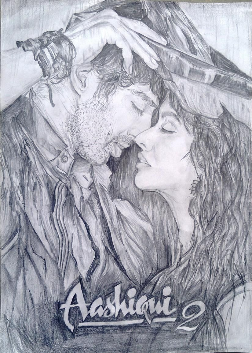 Aashiqui 2 kyon ki tum hi ho sketching by soumya ranjan mohanty in my sketches at touchtalent 67377